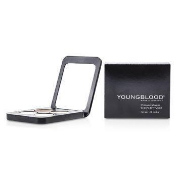Youngblood Pressed Mineral Eyeshadow Quad - Shanghai Nights  4g/0.14oz
