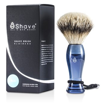 EShave Shave Brush Silvertip - Blue  1pc