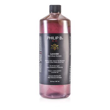 Philip B Lavender Hair & Body Shampoo (For All Hair Types, Color Protecting & Preserving)  947ml/32oz