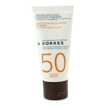 Korres Yoghurt Sunscreen Face Cream SPF50 - Ideal For Sensitive Skin  50ml/1.69oz