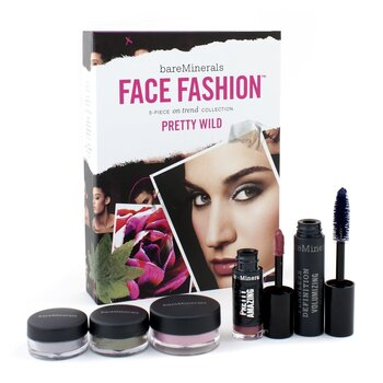 BareMinerals BareMinerals Face Fashion Collection (Blush + 2x Eye Color + Mascara + Lipcolor) - The Look Of Now Pretty Wild  5pcs