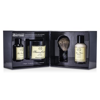 The Art Of Shaving The 4 Elements Of The Perfect Shave - Unscented (New Packaging) (Pre Shave Oil + Shave Crm + A/S Balm + Brush)  4pcs