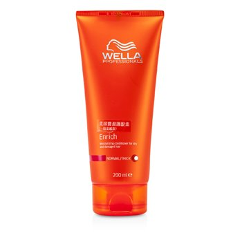 Wella Enrich Moisturizing Conditioner For Dry & Damaged Hair (Normal/ Thick)  200ml/6.7oz