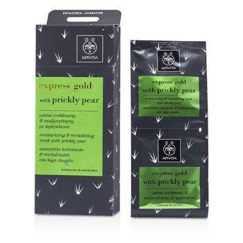Apivita Express Gold Moisturizing & Revitalizing Mask with Prickly Pear  6x(2x8ml)