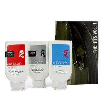 Billy Jealousy The Hits Vol. 1 Set: Shampoo + Body Wash + Shave Cream  3pcs