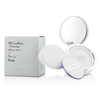 Laneige BB Cushion Foundation (Whitening) SPF 50 With Extra Refill - # No. 21 Natural Beige  2x15g/0.5oz