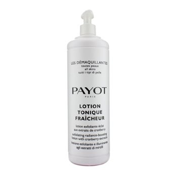 Payot Les Demaquillantes Lotion Tonique Fraicheur Exfoliating Radiance-Boosting Lotion - For All Skin Type (Salon Size)  1000ml/33.8oz
