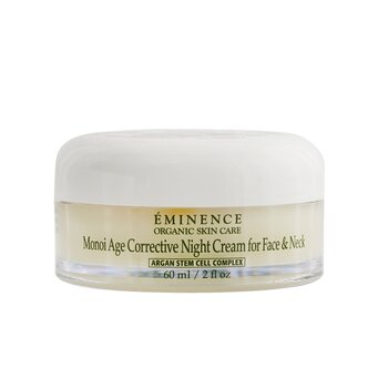 Eminence Monoi Age Corrective Night Cream for Face & Neck (Normal to Dry Skin, Especially Mature)  60ml/2oz
