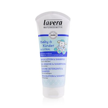 Lavera Baby & Kinder Neutral Wash Lotion & Shampoo  200ml/6.6oz