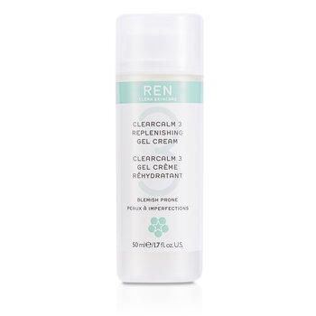Ren Clearcalm 3 Replenishing Gel Cream (For Blemish Prone Skin)  50ml/1.7oz