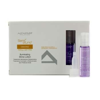 AlfaParf Semi Di Lino Diamond Illuminating Shine Lotion (For All Hair Types)  12x13ml/0.43oz