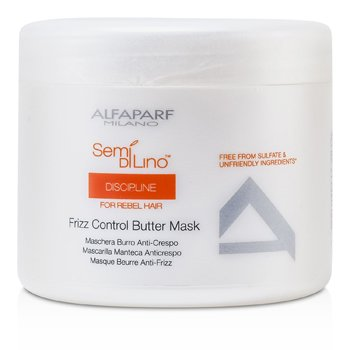 AlfaParf Semi Di Lino Discipline Frizz Control Butter Mask (For Rebel Hair)  500ml/17.28oz