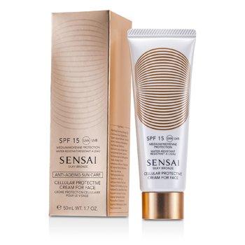 Kanebo Sensai Silky Bronze Cellular Protective Cream For Face SPF 15  50ml/1.7oz