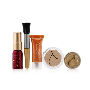 Jane Iredale Starter Kit (6 Pieces): 1xPrimer & Brighter, 1xLoose Mineral Powder, 1xMineral Foundation, ... - # Light  6pcs