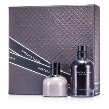 Bottega Veneta Pour Homme Coffret: Eau De Toilette Spray 90ml/3oz + After Shave Balm 100ml/3.4oz  2pcs