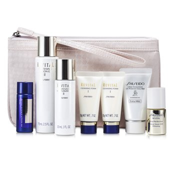Shiseido Revital Set: Cleansing Foam I 20gx2pcs+Lotion EX II 75ml+Serum AAA 10ml+Moisturizer EX II 30ml+Lotion AA 20ml...  7pcs+1Bag