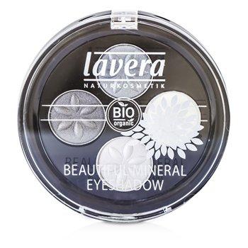 Lavera Beautiful Mineral Eyeshadow Quattro - # 01 Smoky Grey  4x0.8/0.026oz