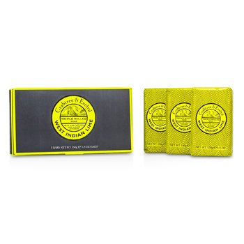 Crabtree & Evelyn West Indian Lime Triple Milled Soap  3x(150g/5.3oz)