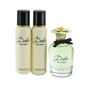 Dolce & Gabbana Dolce Coffret: Eau De Parfum Spray 75ml/2.5oz + Body Lotion 100ml/3.3oz + Shower Gel 100ml/3.3oz  3pcs