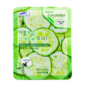 3W Clinic Mask Sheet - Fresh Cucumber  10pcs