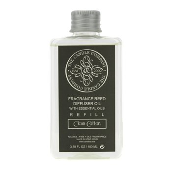 The Candle Company Reed Diffuser with Essential Oils Refill - Clean Cotton  100ml/3.38oz