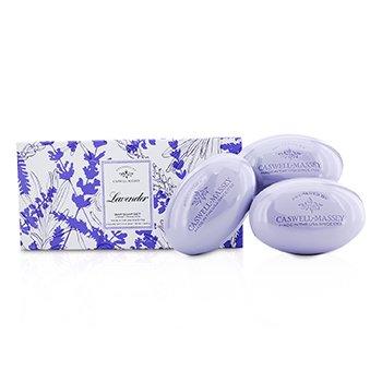 Caswell Massey Lavendar Bar Soap Set  3x150g/5.2oz
