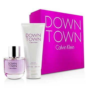Calvin Klein Downtown Coffret: Eau De Parfum Spray 90ml/3oz + Body Lotion 200ml/6.7oz (Pink Box)  2pcs