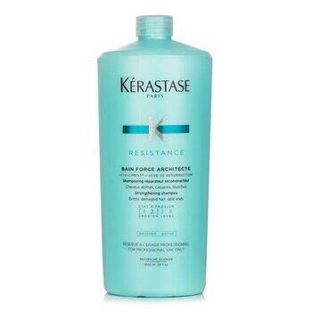Kerastase Resistance Bain Force Architecte Strengthening Shampoo (For Brittle, Damaged Hair, Split Ends)  1000ml/34oz