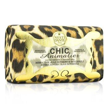 Nesti Dante Chic Animalier Natural Soap - Myrrh, Ginger Tea & Patchouli  250g/8.8oz