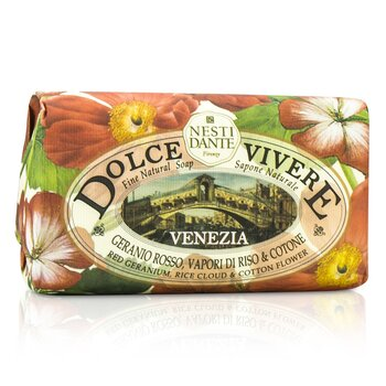 Nesti Dante Dolce Vivere Fine Natural Soap - Venezia - Red Geranium, Rice Cloud & Cotton Flower  250g/8.8oz