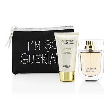 Guerlain L'Instant De Guerlain Travel Coffret: Eau De Parfum Spray 50ml/1.7oz + Body Lotion 75ml/2.5oz + Bag  3pcs