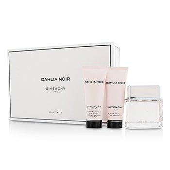 Givenchy Dahlia Noir Coffret: Eau De Toilette Spray 75ml/2.5oz + Body Milk 75ml/2.5oz + Bath Gel 75ml/2.5oz  3pcs
