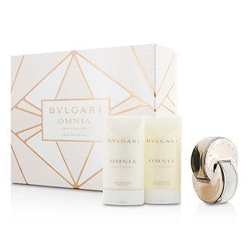 Bvlgari Omnia Crystalline Coffret: L'Eau De Parfum Spray 40ml/1.35oz + Bath & Shower Gel 75ml/2.5oz + Body Lotion 75ml/2.5oz  3pcs