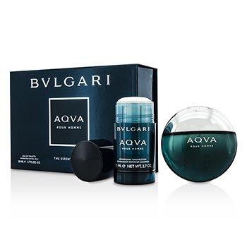 Bvlgari Aqva Pour Homme Coffret: Eau De Toilette Spray 50ml/1.7oz + Deodorant Stick 75ml/2.7oz  2pcs