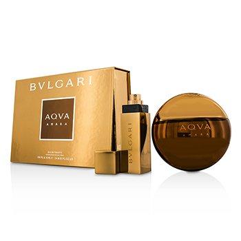 Bvlgari Aqva Amara Coffret: Eau De Toilette Spray 100ml/3.4oz + Eau De Toilette Spray 15ml/0.5oz  2pcs