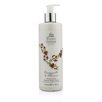 Woods Of Windsor Pomegranate & Hibiscus Moisturising Hand & Body Lotion  350ml/11.8oz