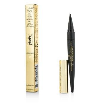Yves Saint Laurent Couture Kajal 3 in 1 Eye Pencil (Khol/Eyeliner/Eye Shadow) - #1 Noir Ardent  1.5g/0.05oz