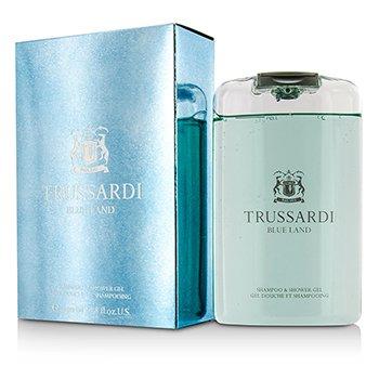 Trussardi Blue Land Shampoo & Shower Gel  200ml/6.7oz