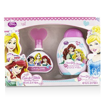 Air Val International Disney Princess Coffret: Eau De Toilette Spray 100ml/3.4oz + Shower Gel & Shampoo 300ml/10.2oz  2pcs