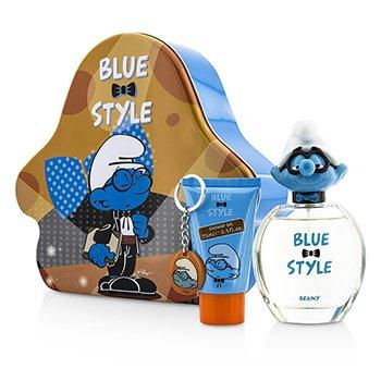 The Smurfs Brainy Coffret: Eau De Toilette Spray 100ml/3.4oz + Shower Gel 75ml/2.5oz + Key Chain  3pcs