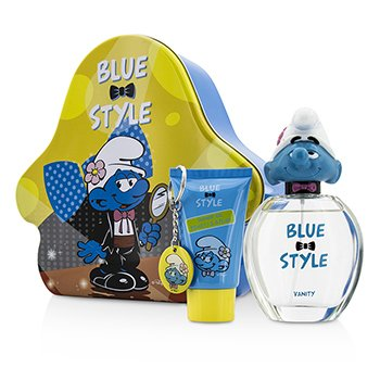 The Smurfs Vanity Coffret: Eau De Toilette Spray 100ml/3.4oz + Shower Gel 75ml/2.5oz + Key Chain  3pcs