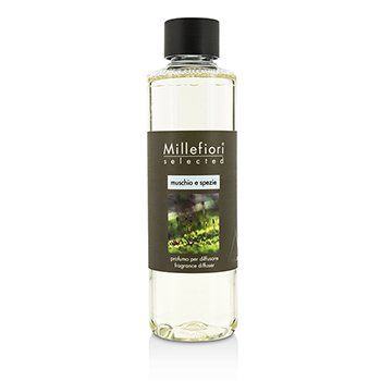 Millefiori Selected Fragrance Diffuser Refill - Muschio E Spezie  250ml/8.45oz