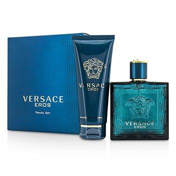 Versace Eros Coffret: Eau De Toilette Spray 100ml/3.4oz + Shower Gel 100ml/3.4oz  2pcs