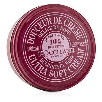 L'Occitane Shea Butter 10% Ultra Soft Cream - Delightful Rose  100ml/3.5oz