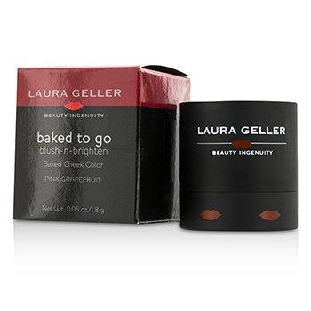 Laura Geller Baked To Go Blush N Brighten Baked Cheek Color - #Pink Grapefruit  1.8g/0.06oz