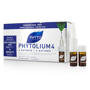 Phyto Phytolium 4 Chronic and Severe Anti-Thinning Hair Concentrate (For Thinning Hair - Men)  12x3.5ml/0.118o