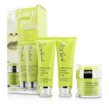 Rodial Super Acids Kit - 3 Step At Home Peel: Peel 50ml/1.7oz + Mask 75ml/2.5oz + Scrub 75ml/2.5oz  3pcs