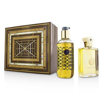 Amouage Jubilation XXV Coffret: Eau De Parfum Spray 100ml/3.4oz + Bath & Shower Gel 300ml/10oz  2pcs