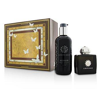 Amouage Memoir Coffret: Eau De Parfum Spray 100ml/3.4oz+ Body Lotion 300ml/10oz  2pcs