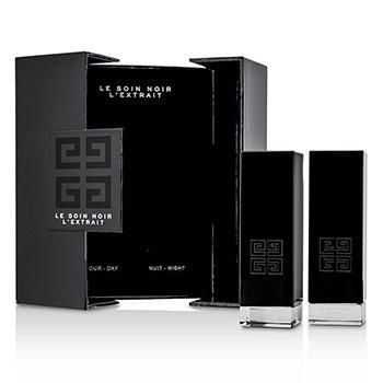 Givenchy Le Soin Noir L'Extrait: L'Extrait Day Serum 15ml/0.5oz + L'Extrait Night Serum 15ml/0.5oz  2pcs
